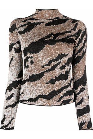 Just Cavalli Suéter tejido con motivo de animal print