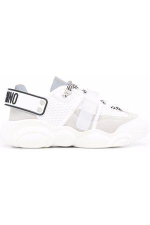 Moschino Mujer Tenis - Zapatillas con cordones y cinta del logo