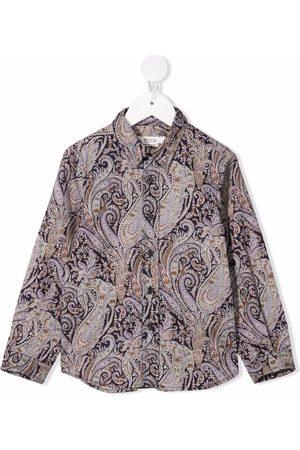 BONPOINT Camisa con estampado de cachemira