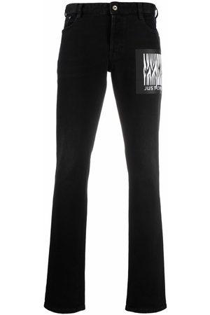 Roberto Cavalli Jeans con parche del logo