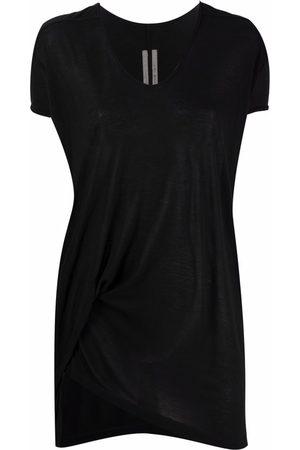 Rick Owens Camiseta con dobladillo asimétrico