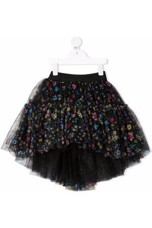 MONNALISA Falda de tul con estampado floral