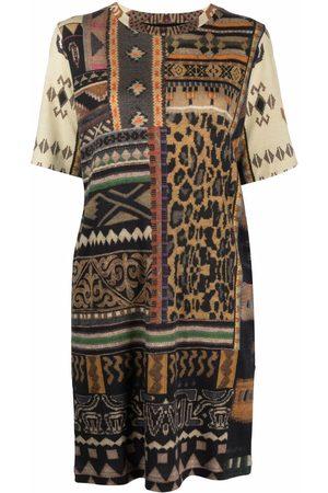 Etro Vestido estilo suéter con estampado de alfombra
