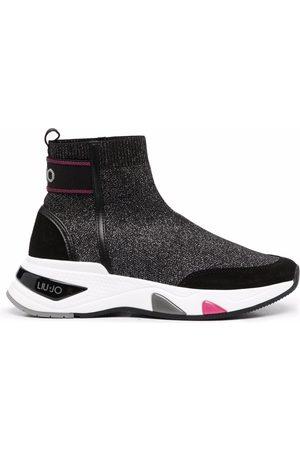 Liu Jo Zapatillas estilo calcetín con parche del logo