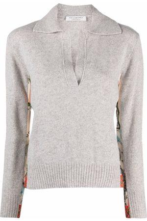 Serafini Suéter con paneles estampados
