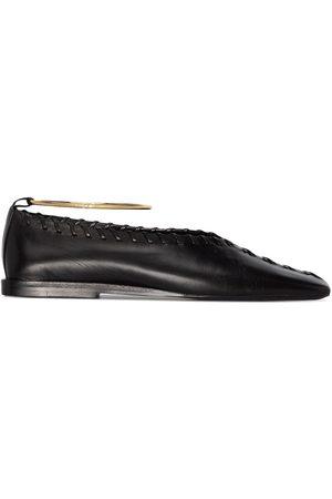 Jil Sander Tonal-stitch ballerina shoes