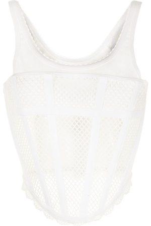 DION LEE Mujer Tops - Top estilo corset de malla
