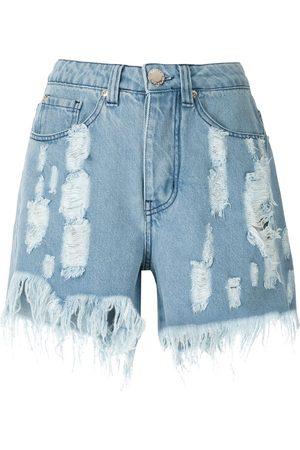 Olympiah Shorts de mezclilla con detalles rasgados