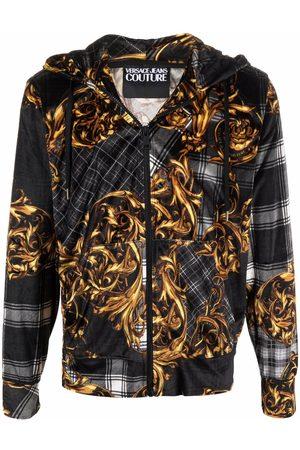 VERSACE Baroque zip-up hoodie