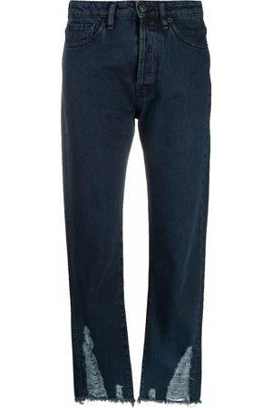3x1 Jeans capri con efecto envejecido
