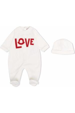 Moncler Love logo-detail babygrow set