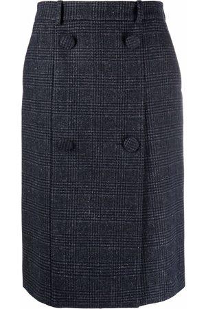 Nina Ricci Checked wool midi skirt