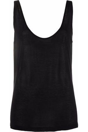 Rick Owens V-neck silk-blend tank top