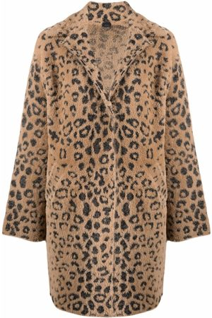 Pinko Leopard-print single-breasted coat