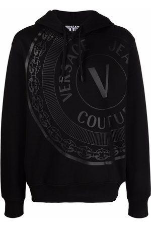 VERSACE V-Emblem cotton hoodie
