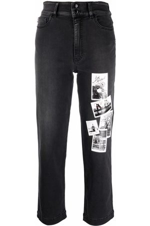 Love Moschino Mid-rise cropped jeans