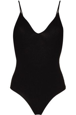 Reformation Vamp open back bodysuit