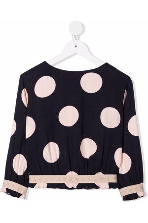 Emporio Armani Logo-tape spotted blouse
