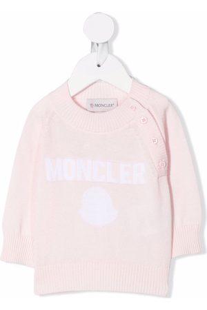 Moncler Enfant Long-sleeved logo knit jumper