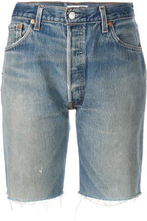 RE/DONE Mujer De mezclilla - Shorts de mezclilla por la rodilla