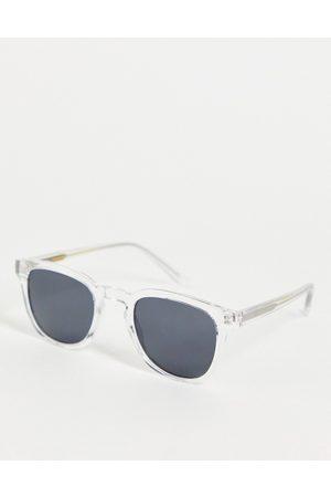 A.Kjaerbede Bate unisex square sunglasses in clear