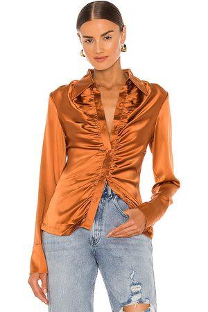 KIM SHUI Camisa en color metálico talla L en - Metallic Bronze. Talla L (también en M, S, XS).
