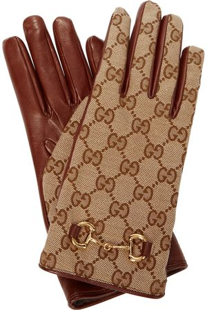 Gucci Mujer Guantes - GG-canvas and leather gloves