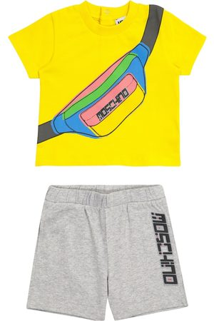 Moschino Baby printed stretch-cotton T-shirt and shorts set