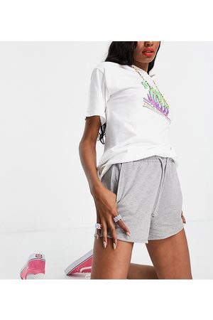Noisy May Tall Mujer Suéteres - Organic cotton jersey shorts in grey