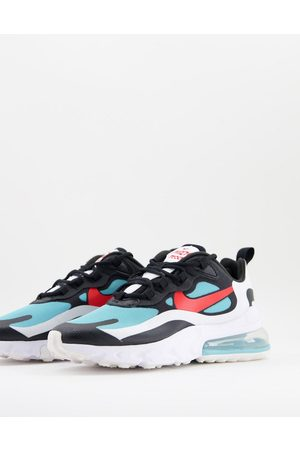 Nike Air Max 270 React Trainers in black