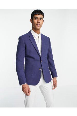 ASOS DESIGN Skinny wool mix blazer in navy