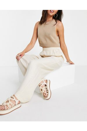 & Other Stories Mujer Leggings y treggings - Super soft cupro trousers in