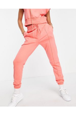 Hunkemoller Mujer Joggers - POP recycled cotton lounge jogger in coral