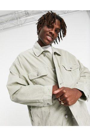 ASOS Hombre De mezclilla - Oversized cord western jacket in soft mint
