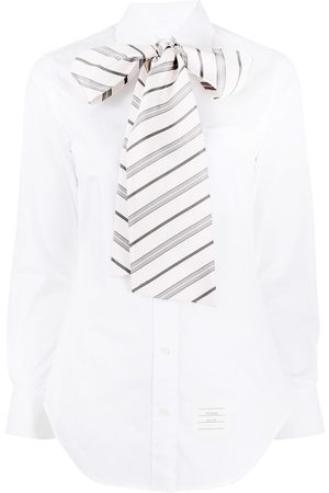 Thom Browne Mujer Manga larga - Camisa con manga larga y cuello con lazo