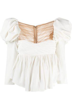 Khaite Mujer Blusas - Blusa con mangas farol