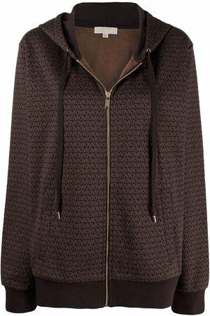 Michael Kors Mujer Con capucha - Hoodie con cierre y monograma estampado