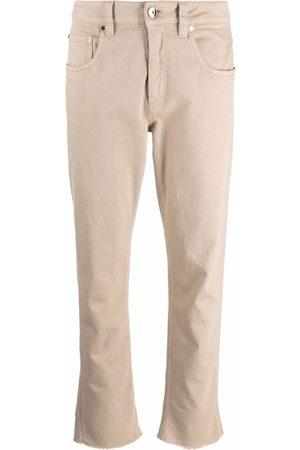 Brunello Cucinelli Jeans capri con tiro medio