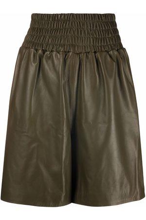 Manokhi Mujer Shorts - Shorts con pretina fruncida