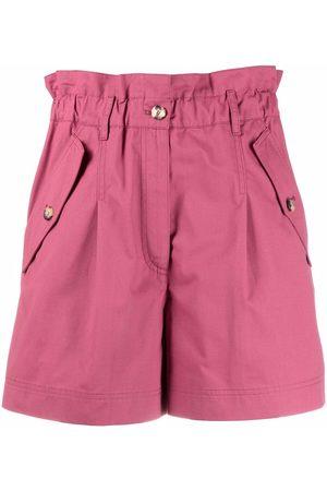 Kenzo Mujer Shorts - Shorts con cintura paperbag