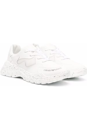 Emporio Armani Kids TEEN low-top lace-up sneakers
