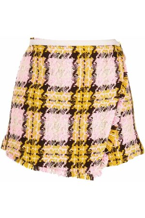 Pinko Mujer Shorts - Shorts con motivo de cuadros