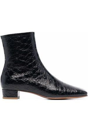 By Far Este crocodile-effect ankle boots