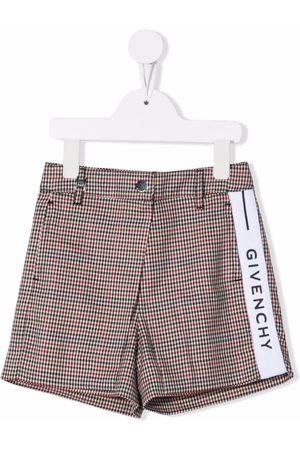 Givenchy Kids Logo tape houndstooth shorts