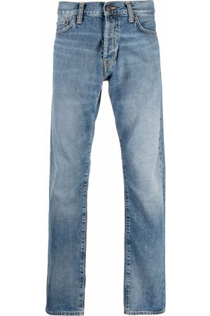 Carhartt Stonewashed logo-patch jeans