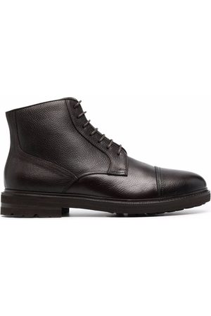 Henderson Baracco Lace-up side zip ankle boots
