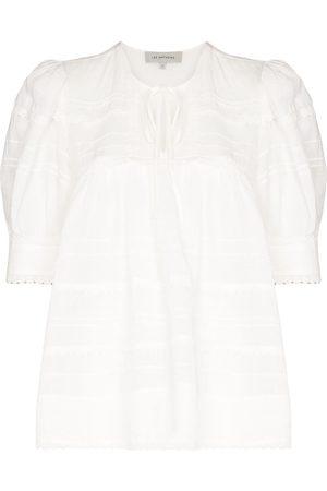 Lee Mathews Mujer Blusas - Puff-sleeve ramie blouse