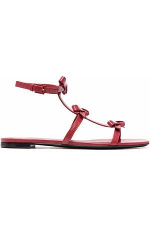 VALENTINO GARAVANI Mujer Planas - Bow-detail flat sandals