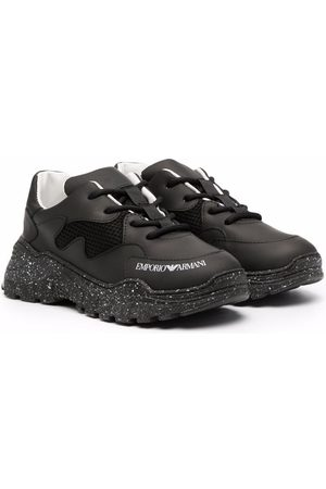 Emporio Armani Logo-print lace-up sneakers