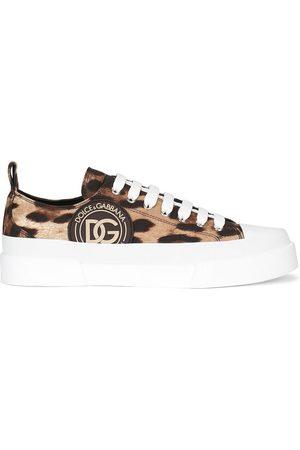 Dolce & Gabbana Tenis con estampado de leopardo